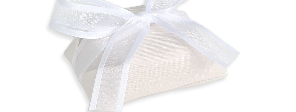 Rustic Light Brown Wrapping with White Ribbon