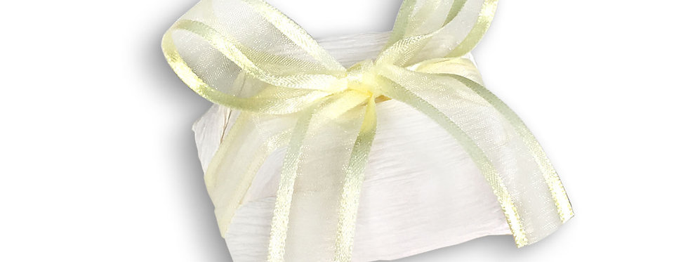 White Wrapping with Yellow Ribbon