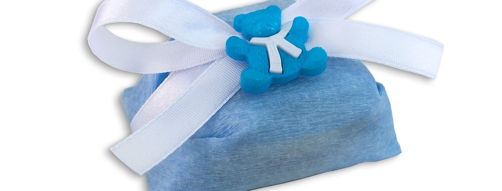 Light Blue Wrapping with White Ribbon