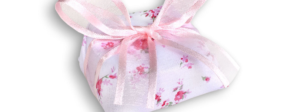 Floral Wrapping with Pink Ribbon