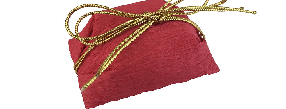 Red Wrapping with Gold String Tie