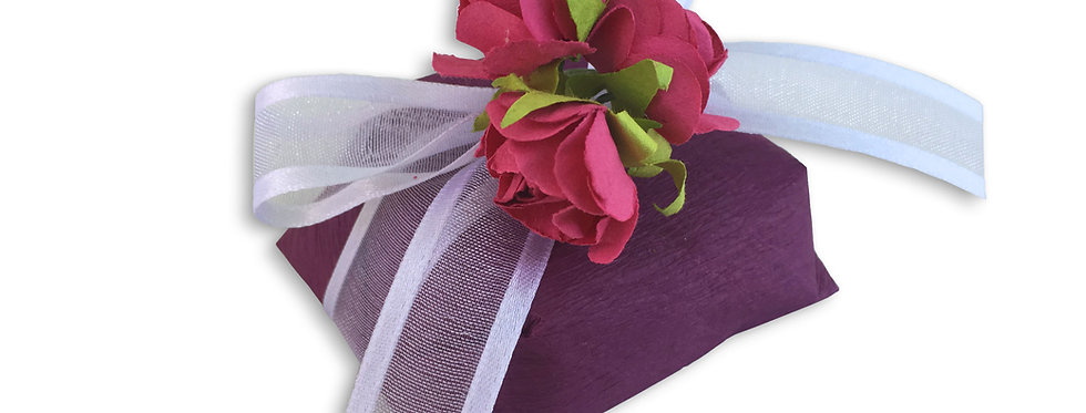 Maroon Wrapping with White Ribbon
