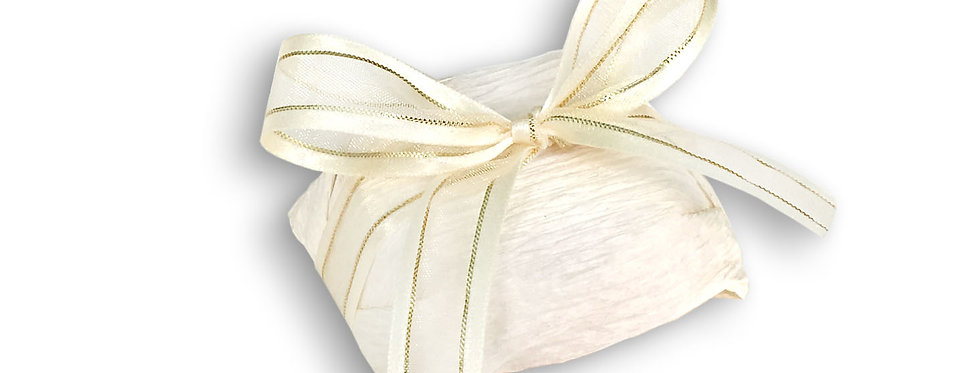 White Wrapping with Ivory Ribbon