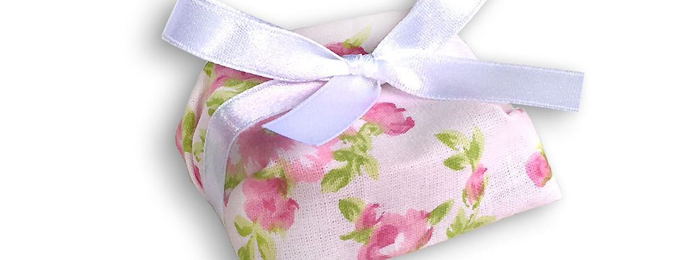 Floral Wrapping with White Ribbon