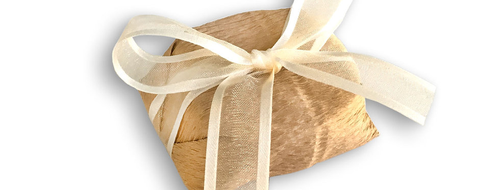 Kraft Paper Wrapping with Ivory Ribbon