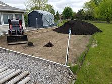Garden Black Dirt Before