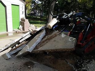 Concrete Driveway Demolition in Roseville MN
