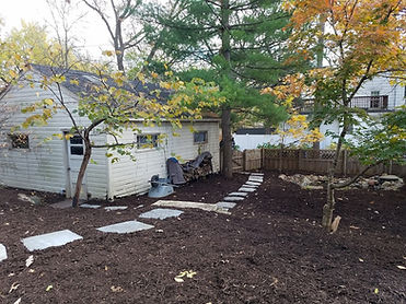 Brown Mulch with Stepping Stones In Maplewood MN