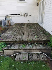 Before Deck Removal In White Bear Lake MN