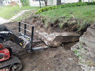 Concrete Retaining Wall Removal in Saint Paul MN
