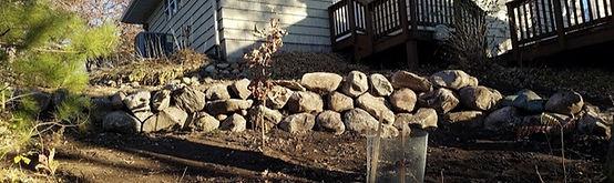 Boulder Retaining Wall in Arden Hills MN
