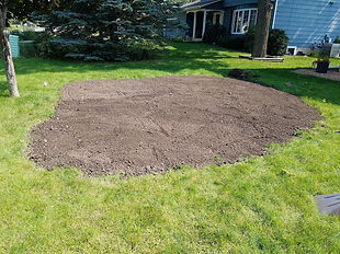 Low Spot Regraded With Black Dirt In Roseville MN