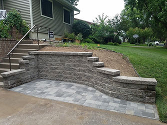 Versa-lok Retaining Wall and Cobblestone Pavers in Shoreview MN