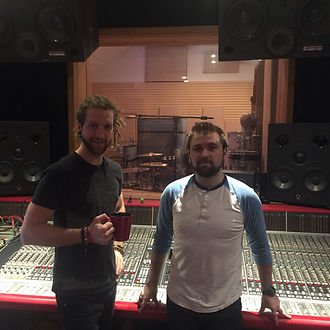 Zhach Kelsch and AJ Larsen at Soundmine Recording Studio. Madison Rising, Vicious, Don't Panic