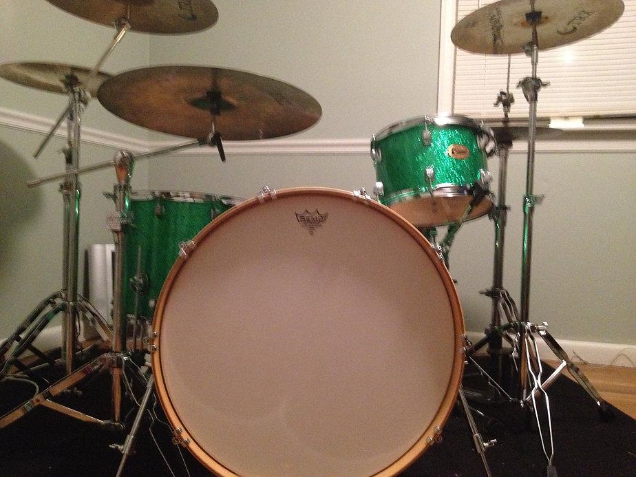 Zhach Kelsch's studio drums. Ludwig TRX Cymbals