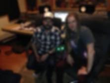 Zhach Kelsch in the studio with Aaron Fink. Breaking Benjamin, Lifer, Stardog Champion