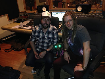 Zhach Kelsch in the studio with Aaron Fink. Breaking Benjamin, Lifer, Stardog Champion