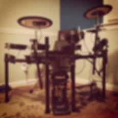 Zhach Kelsch's practice drumkit. Roland