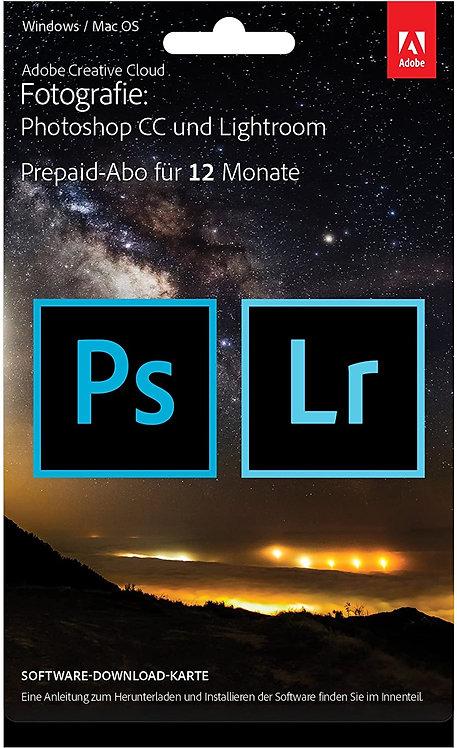 Adobe Creative Cloud Foto-Abo mit 20GB: Photoshop und Lightroom 1 Jahreslizenz