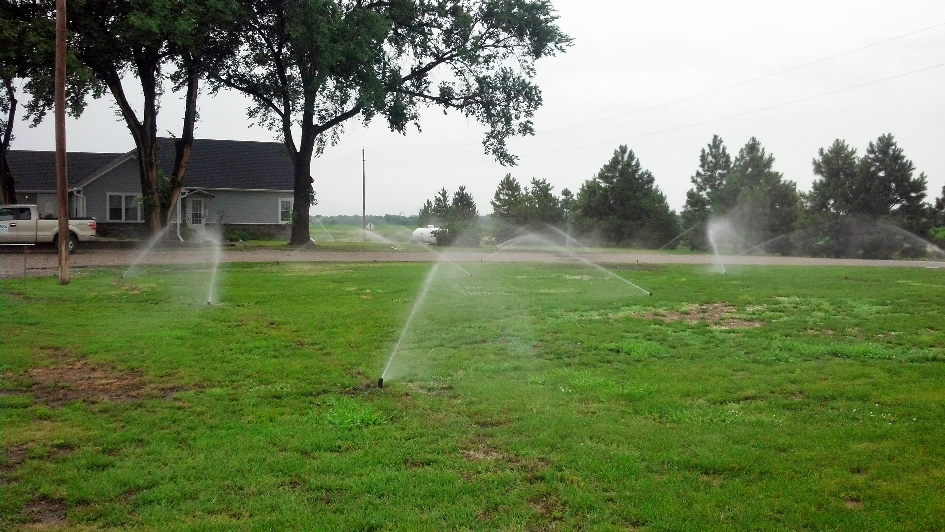 Underground Sprinkler installation