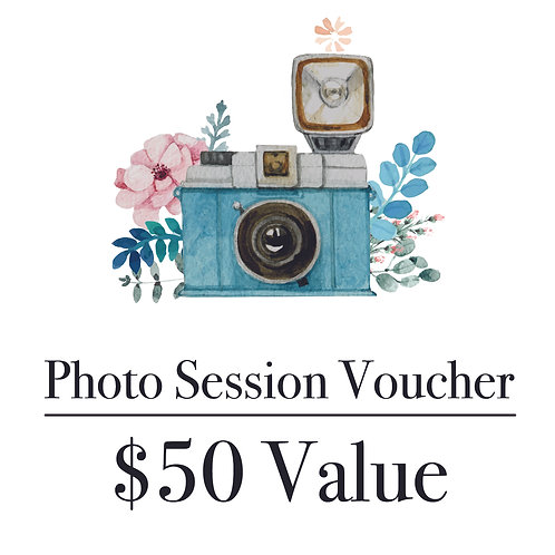 Photography Gift Voucher - $50 Value