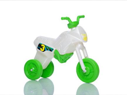 Balancing bike, green and pearl white