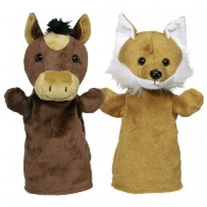 Hand puppets, animals Arino, Funu, Wassti and Baru