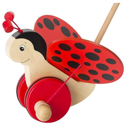 Push-along animal, ladybird Florah