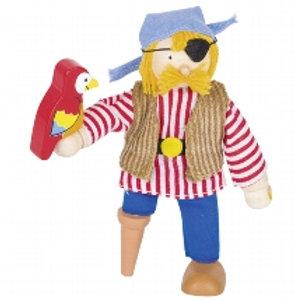 Flexible puppet, pirate