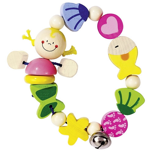 Heimess Touch ring for babies, elastic, mermaid