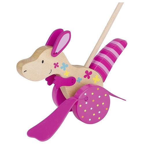 Kangaroo, push-along animal, Susibelle
