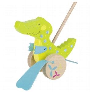Crocodile, push-along animal, susibelle