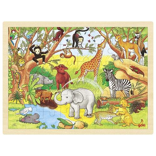 goki Puzzle, Africa, 48 pieces