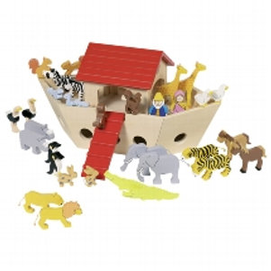 Wooden boat with Animals