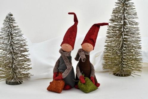Handmade Christmas figures, set of 2 by Zwergnase