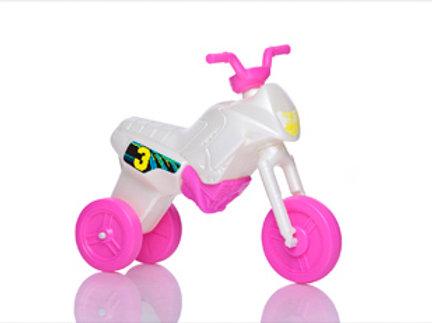 Balancing bike, pink and pearl white