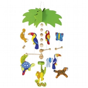 Mobile Palm with Animals