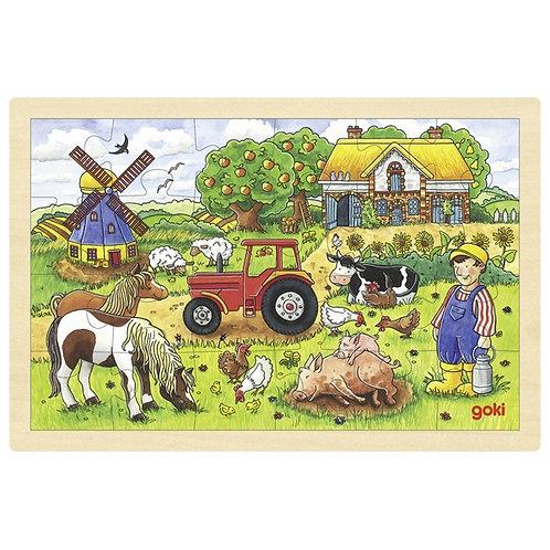 goki Puzzle, Mr Miller's Farm, 24 pieces