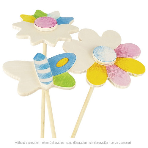Flower decor stick to be paint, spring