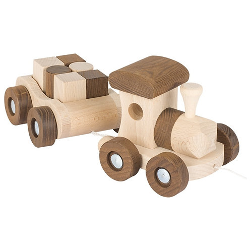 Wooden Train, Vancouver, natural collection by goki