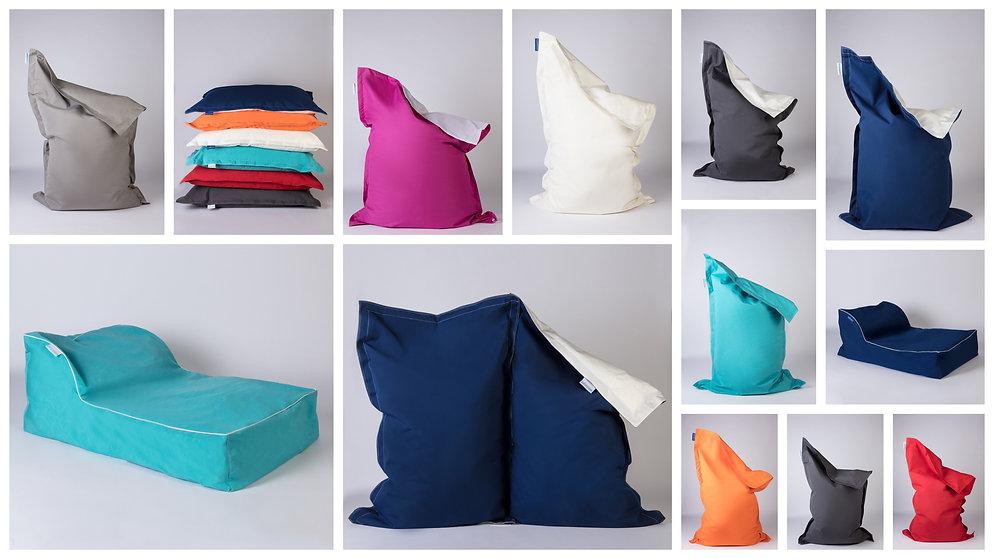 Floating sofa made out of Sunbrella