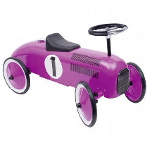 RIDE-ON VEHICLE, PINK METALLIC CAR
