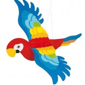 Parrot swinging animal