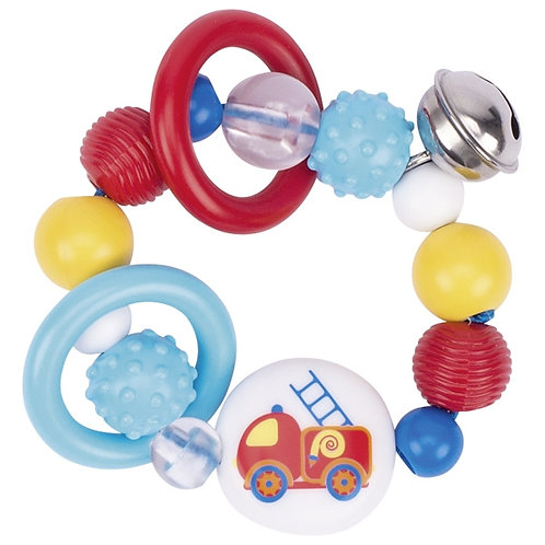 Heimess Touch ring for babies, elastic, fire engine