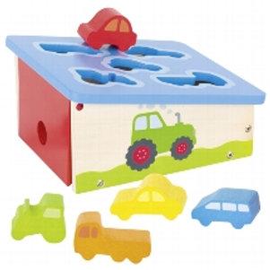 Shape Sorter box, vehicles