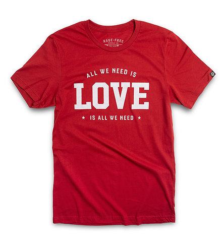 "CANVAS RED ""LOVE"" CREW"