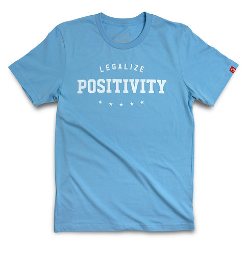"""SKY BLUE """"POSITIVITY"""" CREW"""