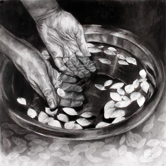 I immerse my hands in my fallen memories II