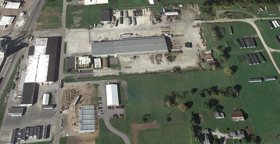 aerial vie of Whitley Manufacturing in South Whitley Indiana