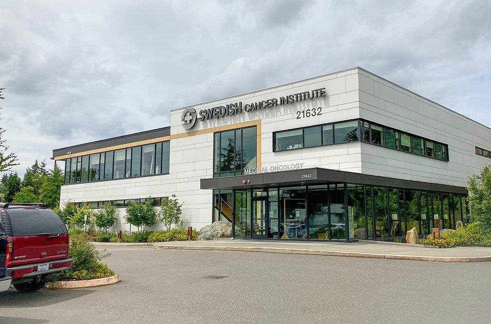 Healthcare building built using modular construction methods